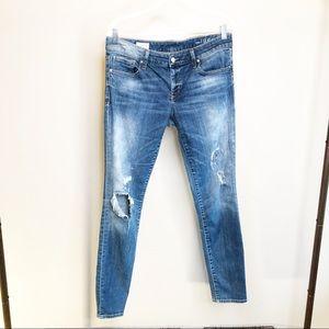 Gap Always Skinny Denim Distressed Jeans